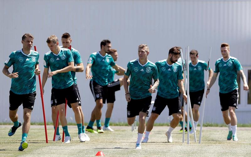 Germany's players held crisis talks in the wake of their faltering start to the World Cup - AP