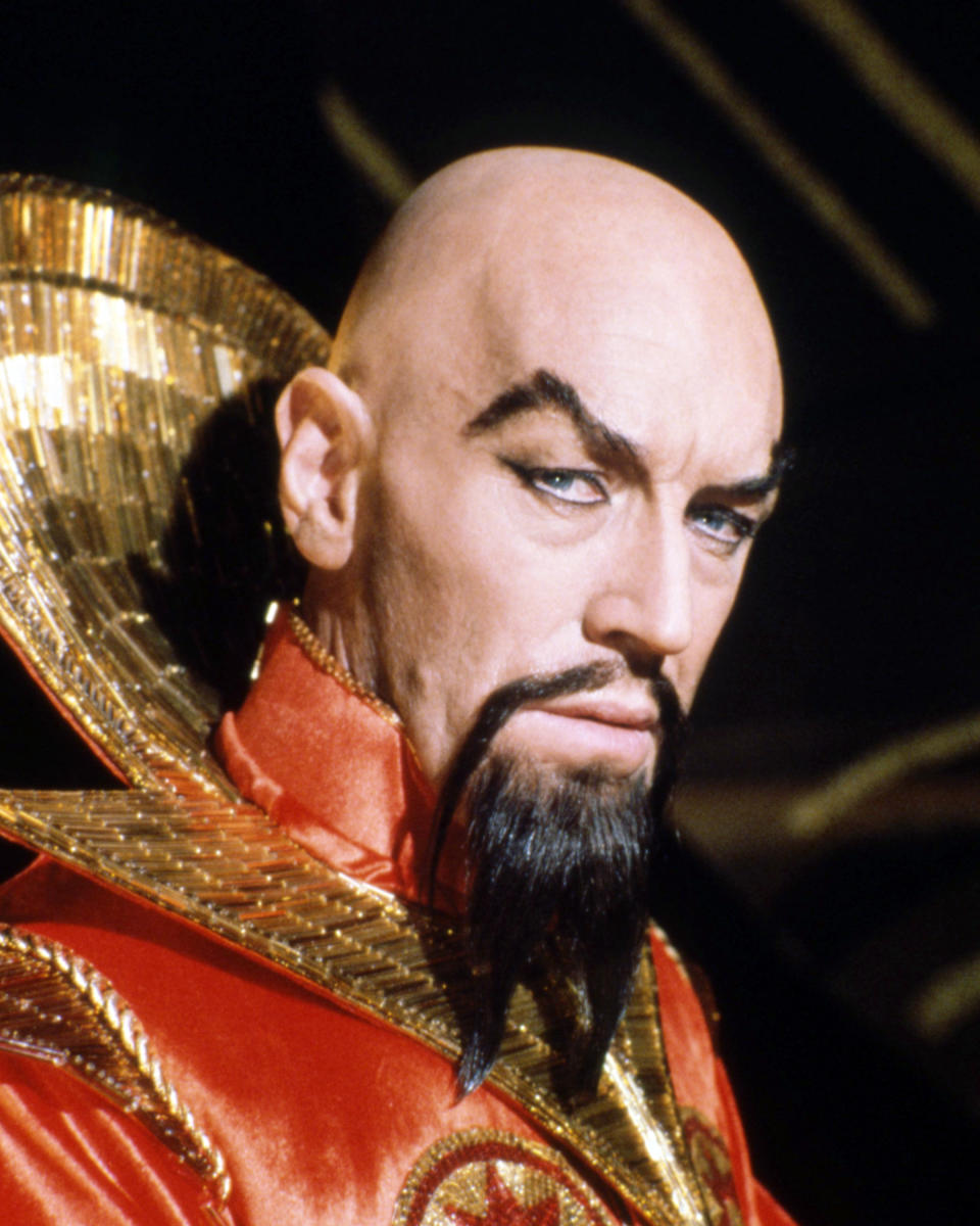 Swedish actor Max von Sydow as Emperor Ming the Merciless in 'Flash Gordon', directed by Mike Hodges, 1980. (Photo by Silver Screen Collection/Getty Images)