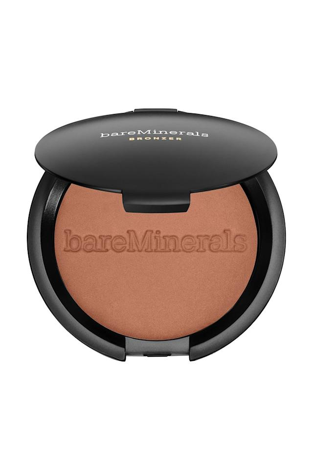 "<p><strong>bareMinerals</strong></p><p>sephora.com</p><p><strong>$29.00</strong></p><p><a href=""https://go.redirectingat.com?id=74968X1596630&url=https%3A%2F%2Fwww.sephora.com%2Fproduct%2Fendless-summer-bronzer-P444422&sref=http%3A%2F%2Fwww.marieclaire.com%2Fbeauty%2Fmakeup%2Fg4879%2Fbest-self-tanners-bronzers-dark-skin%2F"" target=""_blank"">SHOP IT</a></p><p>Don't feel like putting on a contour powder and a highlighter? Same, girl *time is money*. Instead, employ this beautiful blend of the two, which combines the luminosity of a highlighter and the depth of color of a contour powder. Simply swirl a fluffy brush around in this pot, and apply this wherever you want a warm glow. </p>"