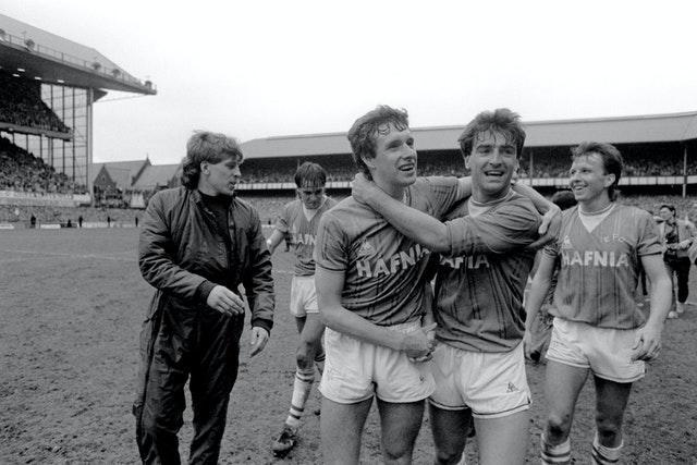 Trevor Steven, far right, won two league titles, an FA Cup and UEFA Cup Winners' Cup in six years at Everton