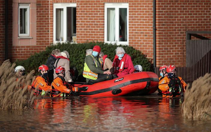 Care home residents were evacuated after the River Weaver burst its banks - Reuters