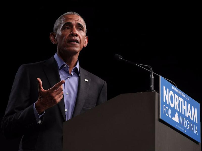 Barack Obama bei einer Rede in Virginia