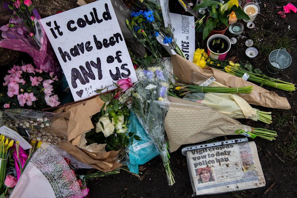 <p>Ms Everard's death sparked protests across London</p> (Getty Images)