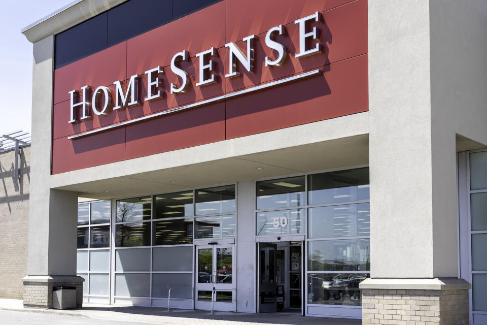 Toronto, Canada - June 3, 2019: HomeSense store in Toronto.  HomeSense is a Canadian chain of off-price home furnishing stores operated by TJX Company