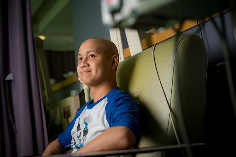 Robert Legaspie, a patient who received CAR-T immunotherapy. Credit: Erik Jepsen/UC San Diego