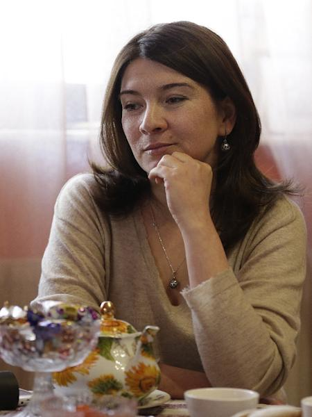 Elvira Ablyalimova, pictured during an interview at her house in Bakhchysaray, Crimea (AFP Photo/Max Vetrov)