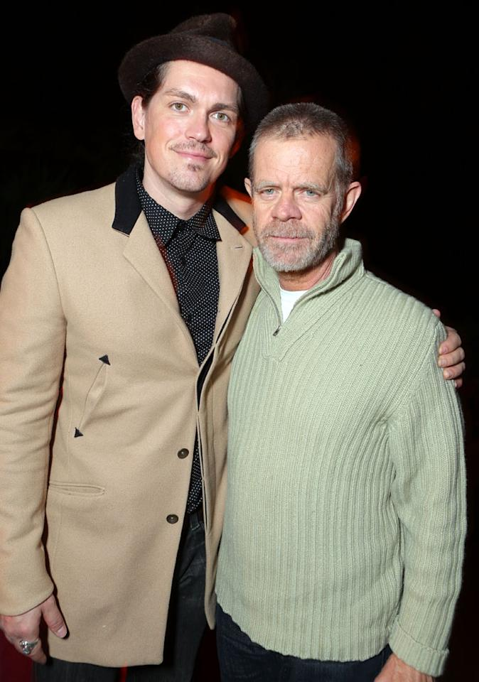 Steve Howey and William H. Macy at Showtime's 7th Annual Holiday Soiree on December 3, 2012 in Beverly Hills, California.