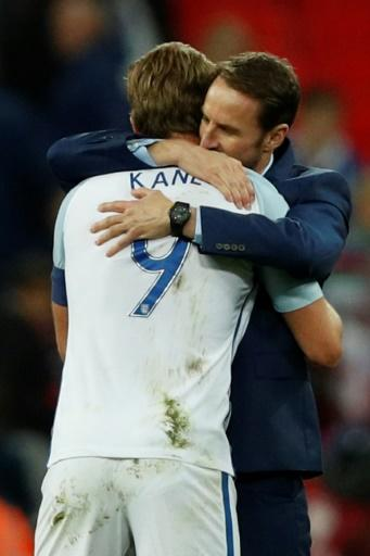 Hugs for Harry: Kane will spearhead Southgate's squad at the World Cup