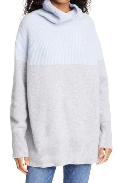 <p><span>Nordstrom Signature Colorblock Funnel Neck Cashmere Sweater</span> ($123, originally $299)</p>