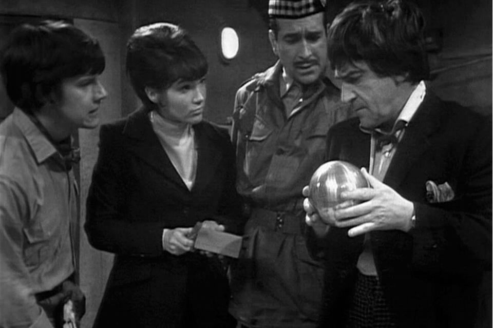 """<p>The Yeti return and invade London's underground! One chapter from this six-parter –part 3 – remains missing, but 'The Web of Fear' is <a href=""""https://www.amazon.co.uk/Doctor-Who-Web-Fear-DVD/dp/B00FRL73G6/"""" rel=""""nofollow noopener"""" target=""""_blank"""" data-ylk=""""slk:available on DVD"""" class=""""link rapid-noclick-resp"""">available on DVD</a>, with the lost episode reconstructed using photographs and the original soundtrack.</p>"""