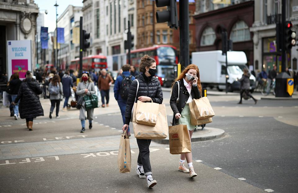 Brits are worried about rising prices for fuel and food, the growth in headline inflation, tax hikes, empty shelves and the end of the furlough scheme. Photo: Reuters