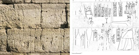 A newfound stone carving reveals Roman Emperor Claudius dressed as an Egyptian pharaoh while wearing an elaborate crown. The hieroglyphs say Claudius is raising the pole of the cult chapel of Egyptian fertility god Min and suggests a ritual lik