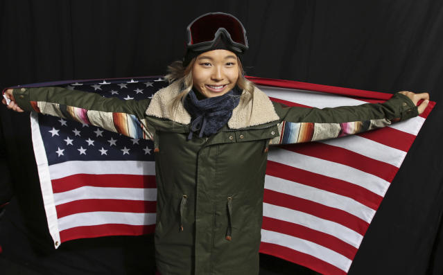 Chloe Kim, like every U.S. snowboarder, has a pseudo-helpful secret inside her jacket.