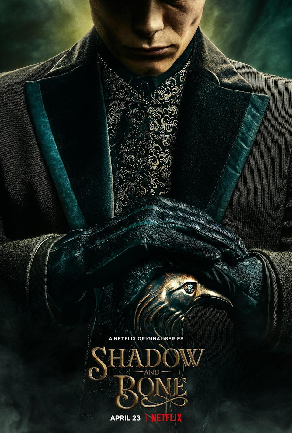 A poster for Shadow and Bone shows Kaz and his cane