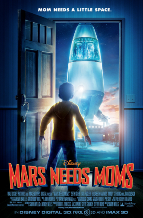 "<p>The computer-animated Disney film <em>Mars Needs Moms</em> cost a whopping <a href=""https://www.boxofficemojo.com/release/rl1147373057/"" rel=""nofollow noopener"" target=""_blank"" data-ylk=""slk:$150 million to make"" class=""link rapid-noclick-resp"">$150 million to make</a>, plus an <a href=""https://bombreport.com/yearly-breakdowns/2011-2/mars-needs-moms/"" rel=""nofollow noopener"" target=""_blank"" data-ylk=""slk:additional $60 million"" class=""link rapid-noclick-resp"">additional $60 million</a> for marketing and promotion. In the end, the film proved disastrous, only churning out <a href=""https://www.boxofficemojo.com/release/rl1147373057/"" rel=""nofollow noopener"" target=""_blank"" data-ylk=""slk:$39 million at the box office"" class=""link rapid-noclick-resp"">$39 million at the box office</a>.</p>"