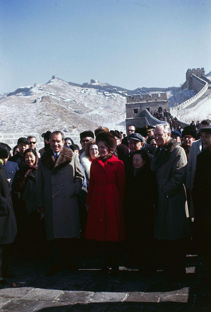"<p>On the famous 1972 trip to China, Patricia Nixon wore a bright red coat, but it <a href=""http://www.firstladies.org/blog/what-first-ladies-wore-pat-nixon-betty-ford-part-2/"" rel=""nofollow noopener"" target=""_blank"" data-ylk=""slk:wasn't for nothing."" class=""link rapid-noclick-resp"">wasn't for nothing.</a> Knowing international cameras were going to be on her all the time, she wore the colored coat so it'd be easier for the cameras and people back home watching to spot her. Not as ""controversial"" as most, but definitely a statement.</p>"