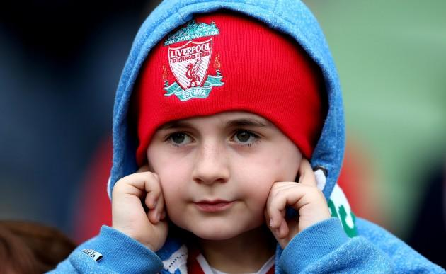 A young Liverpool fan