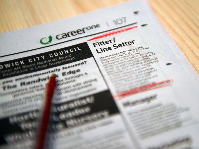 Job ads fall for eighth straight month
