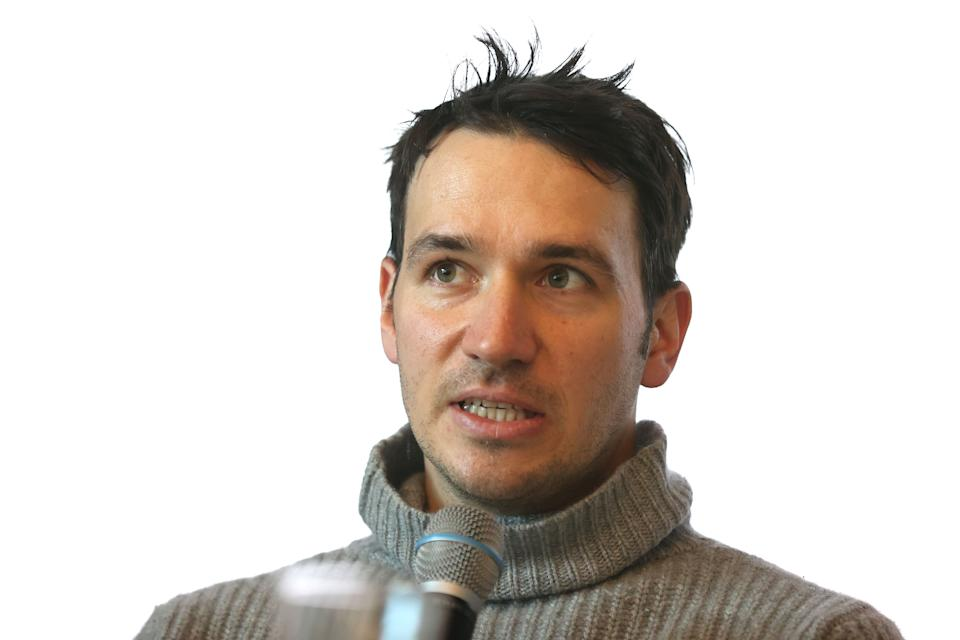 KITZBUEHEL, AUSTRIA - JANUARY 20: Felix Neureuther talks to the media during his presentation of his new Book