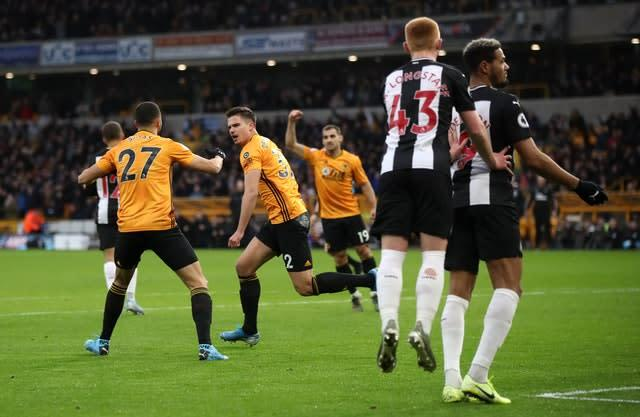 Leander Dendoncker levelled for Wolves (Nick Potts/PA)