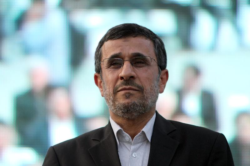 Former Iranian president Mahmoud Ahmadinejad pictured in Tehran on July 7, 2013 (AFP Photo/ATTA KENARE)