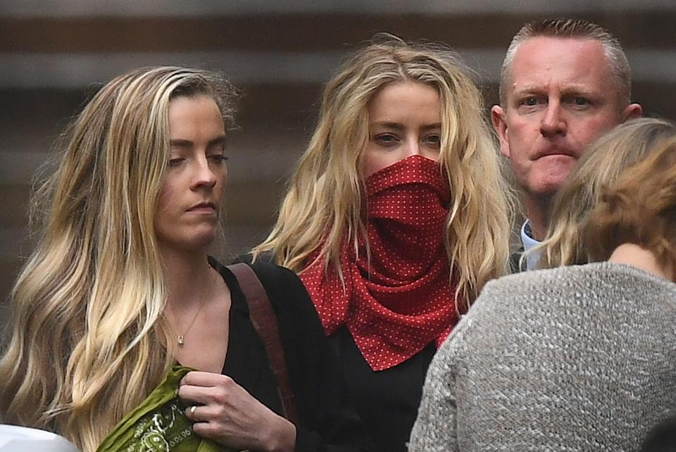 Actress Amber Heard leaves the High Court in London after a hearing in Johnny Depp's libel case against the publishers of The Sun and its executive editor, Dan Wootton.