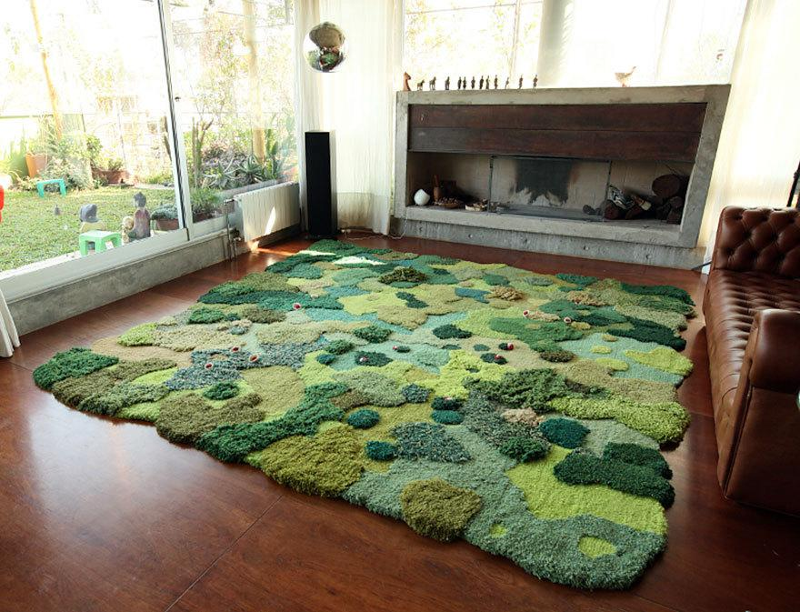 """<p>The artist's hand-tufted designs emulate meadows, trees, pools of water, even entire landscapes. And don't you just want to stretch out on this one?!<i>(Photo: <a href=""""http://alexkeha.com/"""">Alexandra Kehayoglou</a>)</i><br /></p>"""