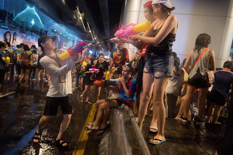 """Bangkok officials warned young Thai women to """"watch how they dress"""" in order to avoid being sexually harassed during New Year festivities: AFP/Getty Images"""