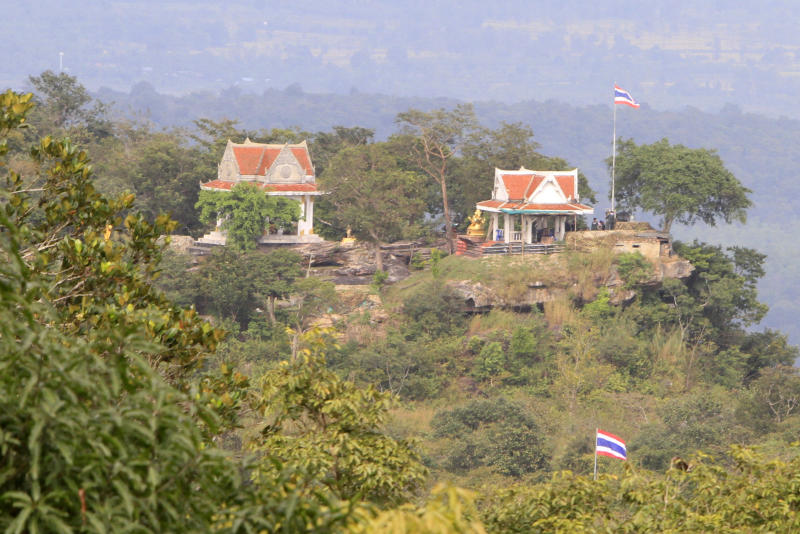 Thai side is viewed from the Cambodia's 11th century Hindu Preah Vihear temple, near Cambodia-Thai border in Preah Vihear Province, Cambodia, Sunday, Nov. 10, 2013. The International Court of Justice rules on a dispute between Cambodia and Thailand over land surrounding the 1,000-year-old temple on Monday. (AP Photo/Heng Sinith)