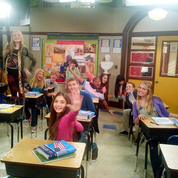 "Ben Savage <a href=""http://instagram.com/p/XK45mam1t-/"">Instagrammed this first look photo</a> of his character's classroom. Cory has followed in the footsteps of Mr. Feeny and is a history teacher at his daughter's middle school."