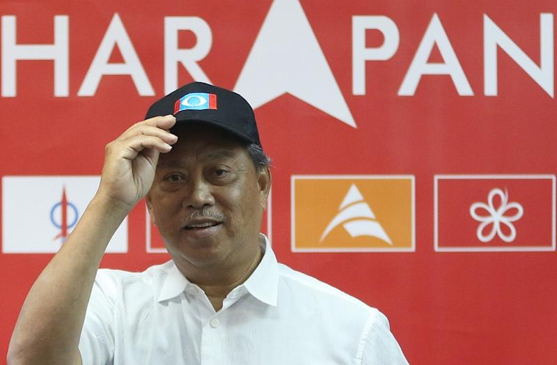 Tan Sri Muhyiddin Yassin speaks during a press conference at Galleri PPBM in Petaling Jaya April 23, 2018. ― Picture by Razak Ghazali