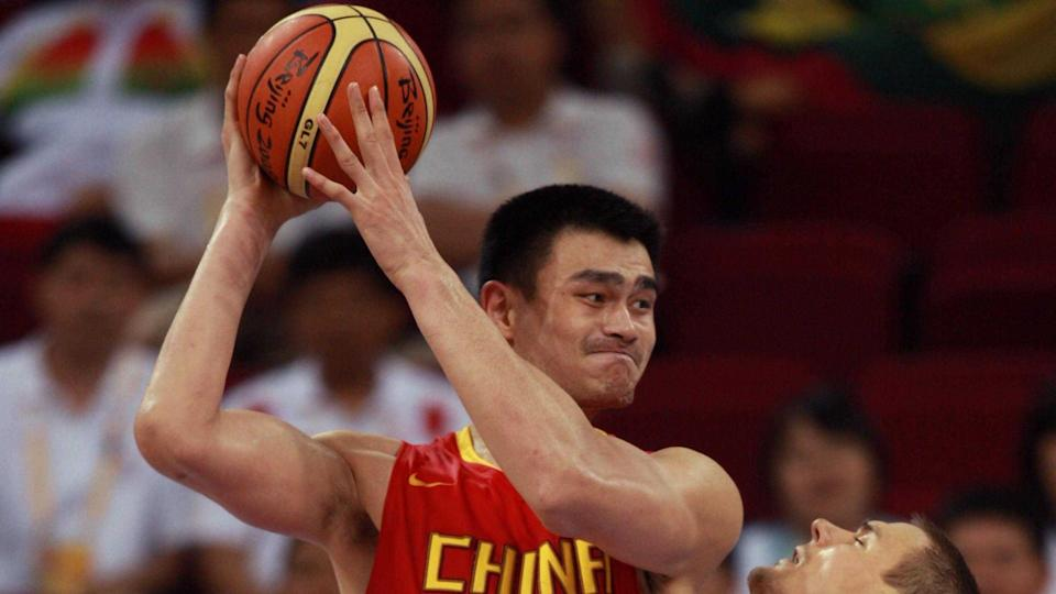 Mandatory Credit: Photo by Sipa/Shutterstock (793733a)Yao Ming of China attacks under the basket during the Men's Quarterfinal basketball match - China and LithuaniaThe 2008 Beijing Olympic Games, China - 20 Aug 2008.