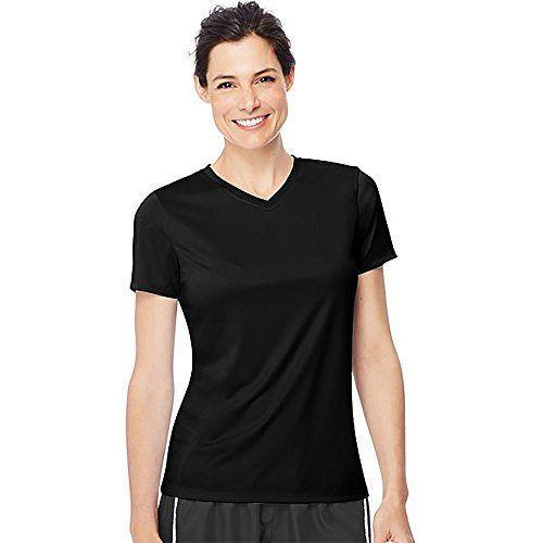 """<p><strong>Hanes</strong></p><p>amazon.com</p><p><strong>$11.71</strong></p><p><a href=""""https://www.amazon.com/dp/B00KRYOTAQ?tag=syn-yahoo-20&ascsubtag=%5Bartid%7C2141.g.37542513%5Bsrc%7Cyahoo-us"""" rel=""""nofollow noopener"""" target=""""_blank"""" data-ylk=""""slk:Shop Now"""" class=""""link rapid-noclick-resp"""">Shop Now</a></p><p>Looking for a top with a bit more coverage? Go for this v-neck. It's <strong>designed with a unique Cool Dri technology</strong> that wicks away moisture to keep you from getting too hot. And <strong>it has 50+ UPF protection</strong>, meaning you'll get plenty of coverage while running outside.</p>"""