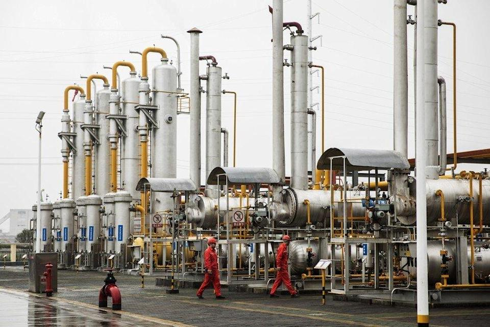 A shale gas collection and transfer facility at the Fuling project site, operated by a unit of China Petrochemical Corporation (Sinopec), in Jiaoshiba of Chongqing municipality, on June 20, 2018. Photo: Bloomberg.