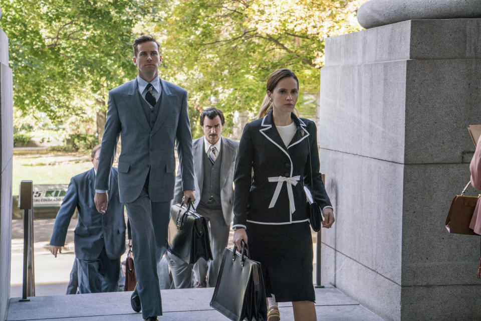 """Felicity Jones as Ruth Bader Ginsburg in 'RBG'<span class=""""copyright"""">Jonathan Wenk—Focus Features</span>"""