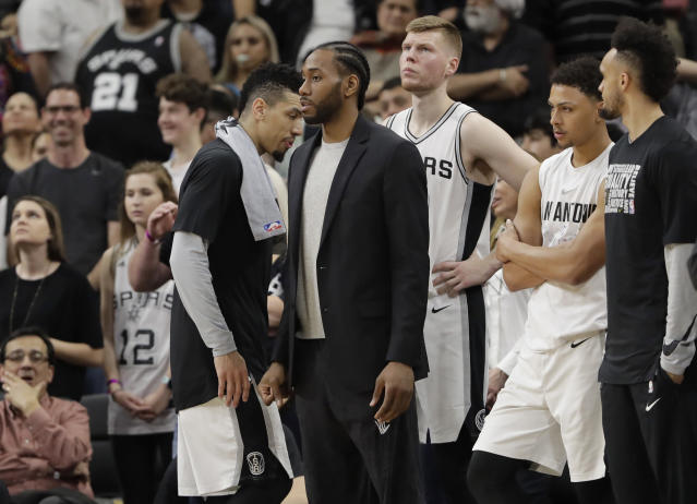 Kawhi Leonard has played nine games for the Spurs this season. (AP)