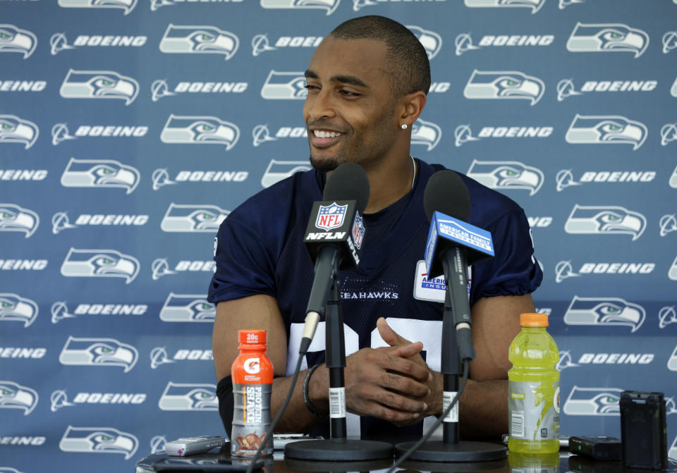 Seattle WR Doug Baldwin wonders why Michael Bennett's protest is different than fans who are clearly disinterested in the anthem. (AP)