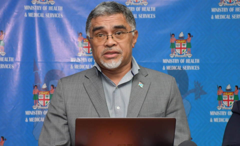 Fiji Secretary for Health Dr James Fong hit out at suggestion the vaccine did not prevent infection. Source: Fijian Government
