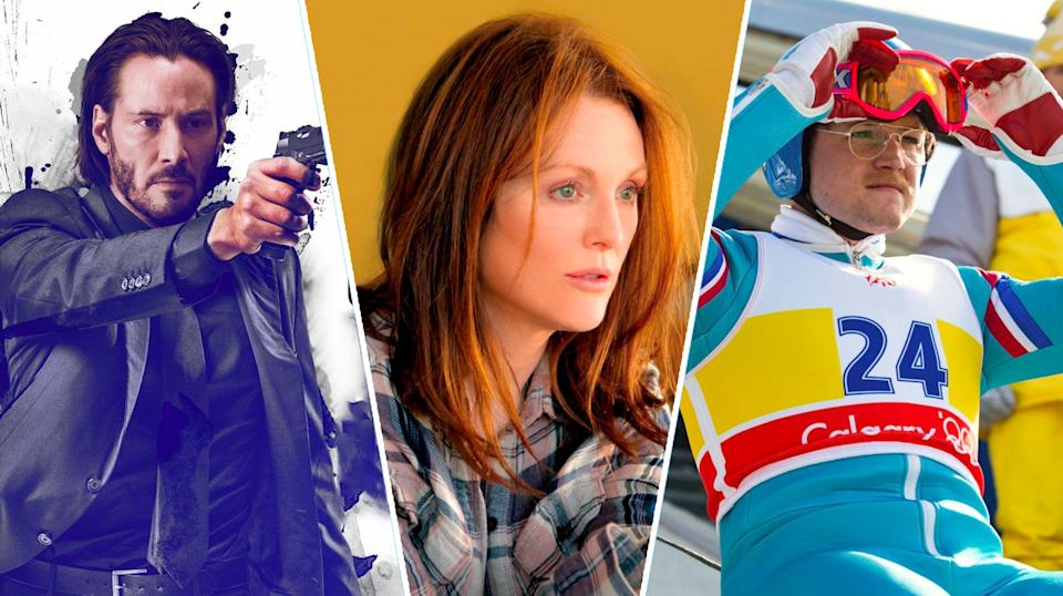 John Wick, Still Alice, Eddie The Eagle.