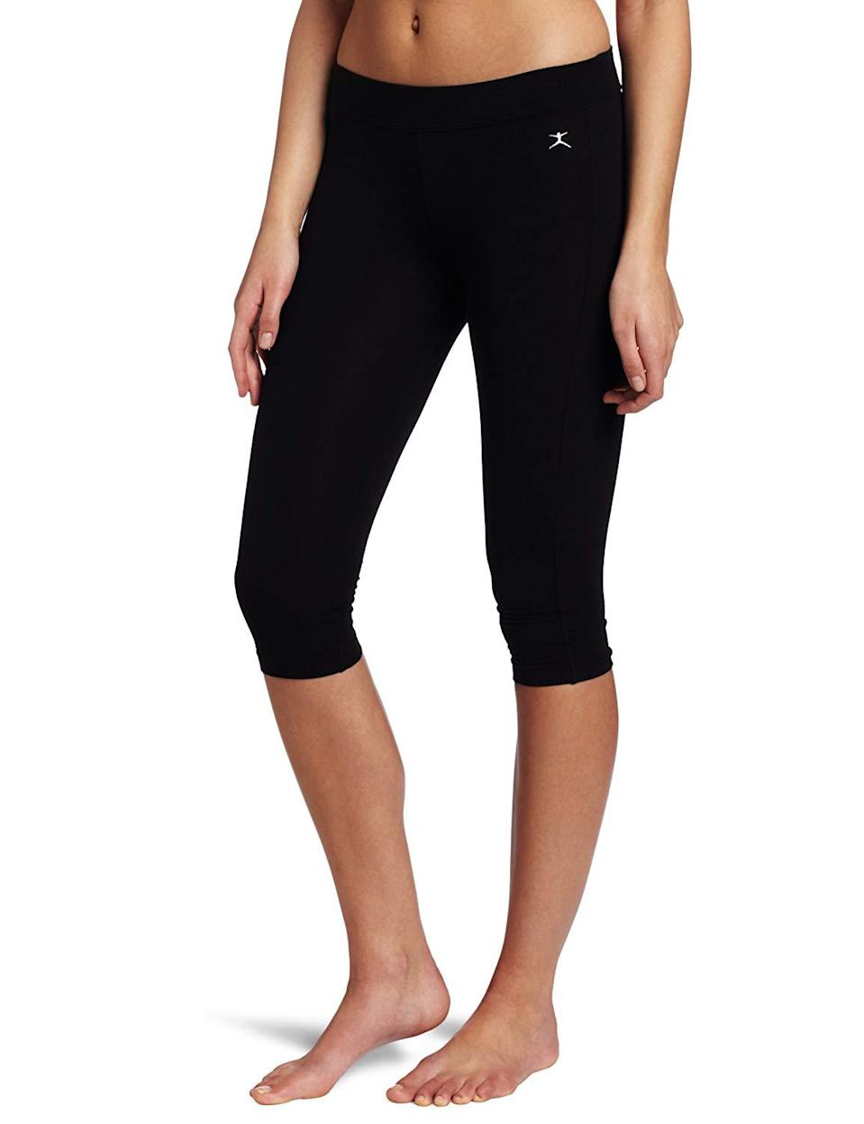 "<h3><a href=""https://www.amazon.com/Danskin-Womens-Capri-Legging-Midnight/dp/B015RFBATM"" rel=""nofollow noopener"" target=""_blank"" data-ylk=""slk:Danskin Capri Legging"" class=""link rapid-noclick-resp"">Danskin Capri Legging</a> </h3><br><br>4 out of 5 stars and 1,031 reviews<br><br><strong>Promising Review:</strong> If it's durability you're concerned about, you can trust Danskin's capri leggings will hold up under some extreme circumstances. <a href=""https://www.amazon.com/gp/customer-reviews/R2HF1CD9I4UPK4"" rel=""nofollow noopener"" target=""_blank"" data-ylk=""slk:One user"" class=""link rapid-noclick-resp"">One user</a> praised the leggings saying, ""I have several pairs of these and absolutely love them. I'm a dog walker, so I need something very comfortable while I'm out working. I also fell, recently, and skinned my knee; there was no damage to the fabric!""<br><br><strong>Danskin</strong> Capri Legging, $, available at <a href=""https://www.amazon.com/Danskin-Womens-Capri-Legging-Midnight/dp/B015RFBATM"" rel=""nofollow noopener"" target=""_blank"" data-ylk=""slk:Amazon"" class=""link rapid-noclick-resp"">Amazon</a>"