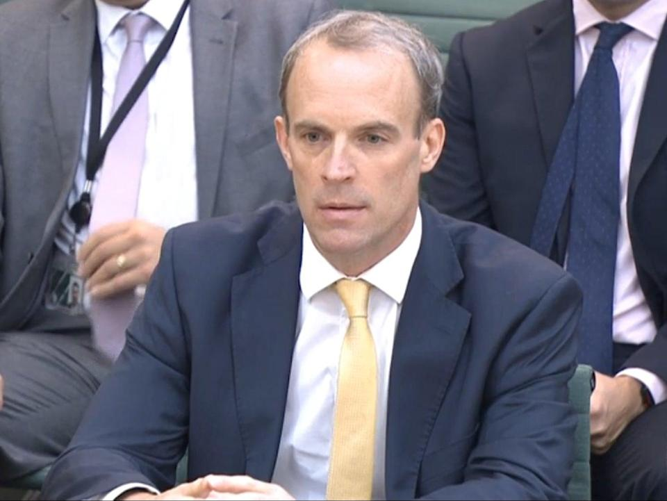 Raab gives evidence to the Foreign Affairs Select Committee (parliamentlive.tv)