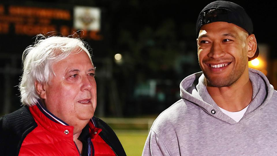 Clive Palmer is bankrolling Israel Folau's attempts to return to rugby league via the Southport Tigers. (Photo by Chris Hyde/Getty Images)