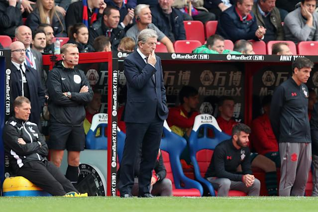 Roy Hodgson looks on as Crystal Palace slip to their fifth straight defeat in the Premier League