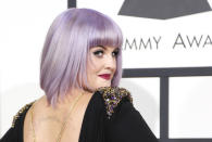 Television personality Kelly Osbourne arrives at the 56th annual Grammy Awards in Los Angeles, California January 26, 2014. REUTERS/Danny Moloshok (UNITED STATES TAGS: ENTERTAINMENT) (GRAMMYS-ARRIVALS)