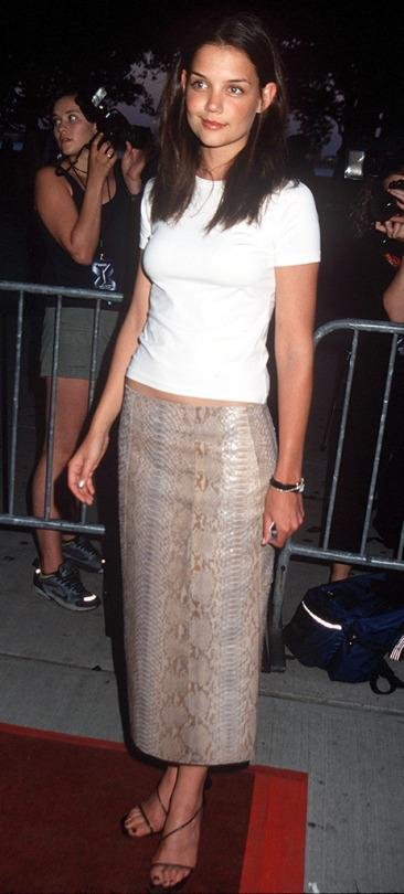 <p>The <i>Dawson's Creek </i>star was among the all-star guests at the premiere. She would later try her hand in the comic-book film world with her role in 2005's <i>Batman Begins</i>. <i>(Photo: Albert L. Ortega/WireImage)</i></p>
