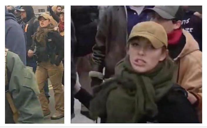 Federal prosecutors believe this is a photo of Felicia Konold of Tucson at the U.S. Capitol on Jan. 6, 2021.