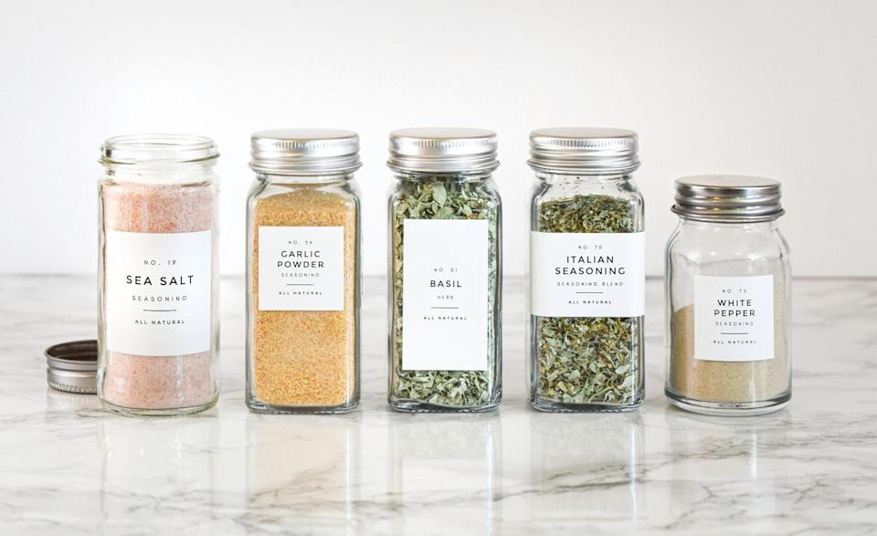 <p>Customize these <span>Spice Labels</span> (starting at $10) to their specific liking to make this an even sweeter gift.</p>