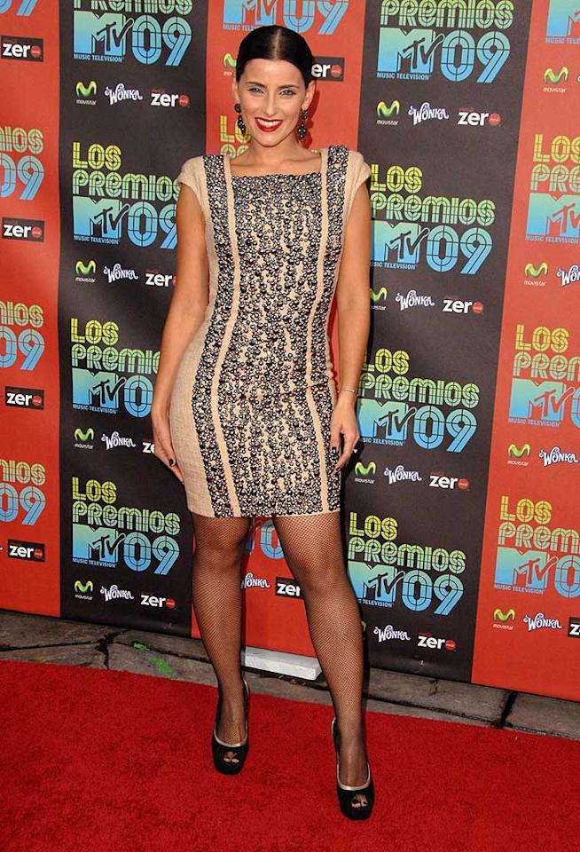 """From the hair to the makeup to the dress to the stockings, Nelly Furtado got it all wrong at the 2009 Latin Grammy Awards. Steve Granitz/<a href=""""http://www.wireimage.com"""" target=""""new"""">WireImage.com</a> - October 15, 2009"""
