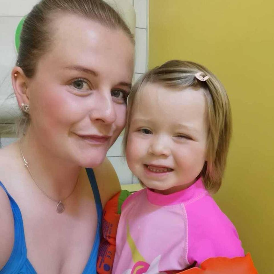 Evie going swimming with Kara. PA REAL LIFE COLLECT