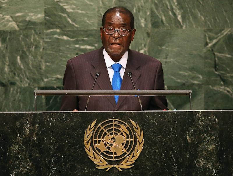 """Zimbabwean President Robert Mugabe, who has a notoriously sour relationship with the West, said developed nations were historically responsible for the """"precarious climate environment we currently live in"""""""